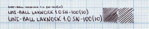 Пример надписи, сделанной ручкой uni-ball laknock SN-100(10)