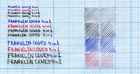Ручка Franklin covey 4-in-1 образец письма