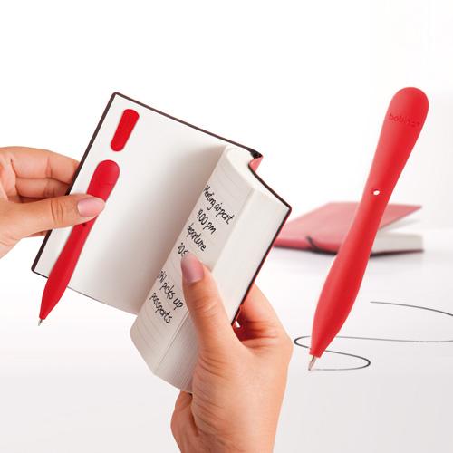 Bobino Slim Pen приклеенная к блокноту