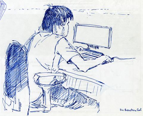 Пример рисунка сделанного ручкой BIC Reaction Gel 0.7
