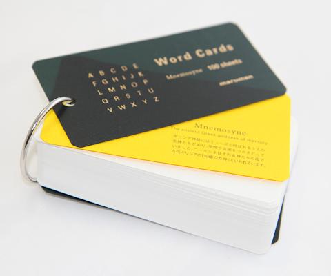 Блокнот maruman word cards со сдвинутой первой страницей