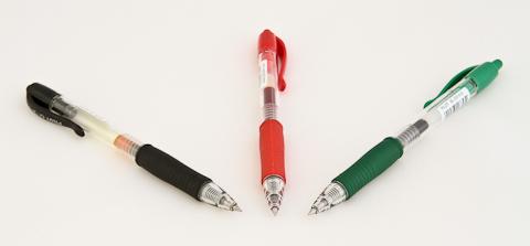 Ручки pilot g2, художественно выложенные