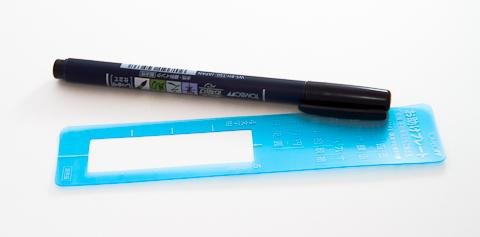 Ручка-кисточка Tombow Fudenosuke Brush (с трафаретом)