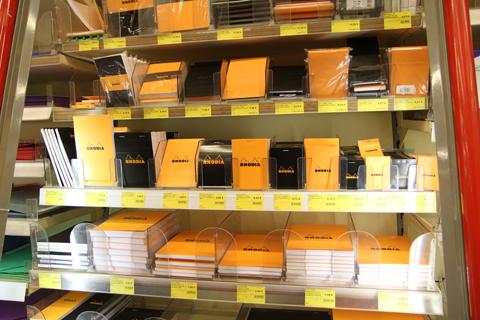 Блокноты Rhodia в магазине Gibert Jeune