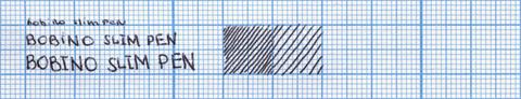 Пример надписи, сделанной ручкой Bobino Slim Pen