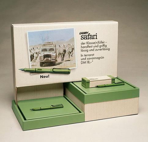 Первая Lamy Safari 1980 года, цвет хаки