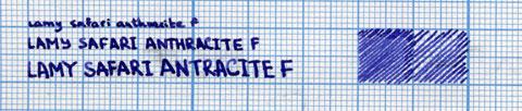 Пример надписи, сделанной ручкой Lamy Safari F