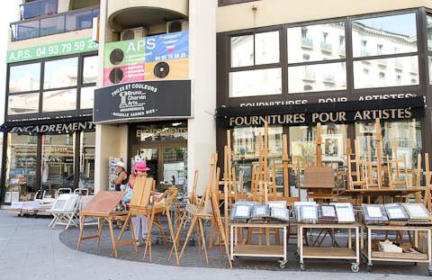 Художественный магазин в Ницце