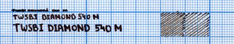 Пример надписи, сделанной ручкой TWSBI Diamond 540