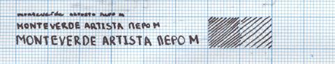 Пример надписи сделанной ручкой Monteverde Artista