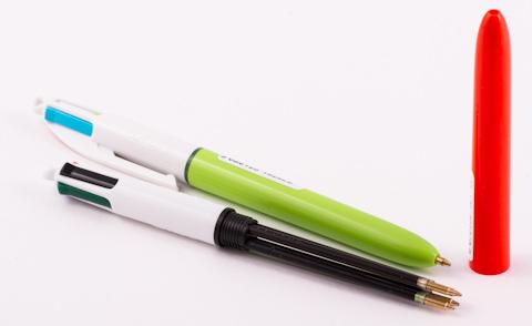 Ручки BIC 4 colors в разобранном состоянии