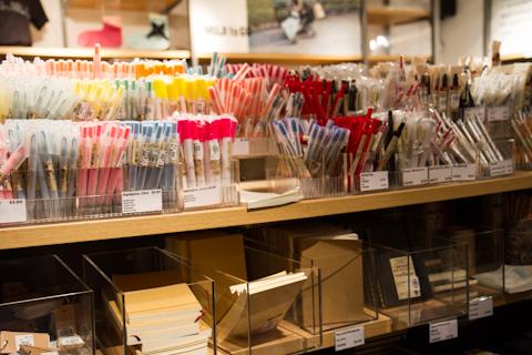 Ручки muji в музее MoMA