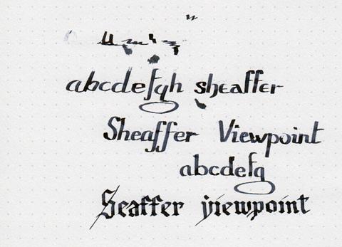 Пример надписи, сделанной ручкой Sheaffer ViewPoint