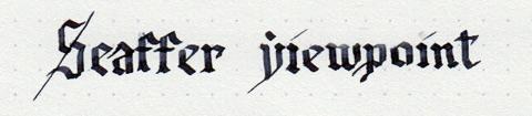 Надпись Sheaffer готическим шрифтом
